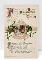 Greetings Prosperous Life John Winsch 1911 Germany Embossed Postcard B7