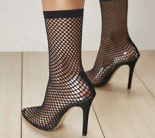 BN Sexy Transparent Fishnet Stocking High Heels Uk Seller