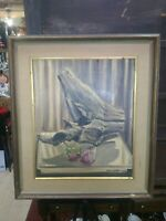 Vintage  oil painting on canvas, 1963 Signed, Framed
