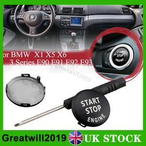 Start Stop Engine Switch Button Cover For BMW 3 5 Series X5 X6 E60 E90 E91 E92
