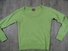 FORNARINA leichter Pullover gelbgrün m. Rückenmotiv Katze Gr. L TOP ZC1017
