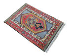 1950s Antique Turkish Rug. Hand-Knotted Anatolian Nomad Rug - RARE 3′2″ x 4′7″