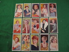 Vintage 50 Mixed Famous Film Stars Carreras Limited Cards USC RDL3582