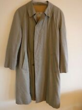 AQUASCUTUM RETRO SMALL CHECKED LONG TRENCH COAT SIZE XL