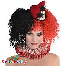 Para mujer dama Halloween Circo Freak Show Payaso Collar Elaborado Vestido Accesorio