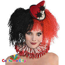 Womens Ladies Halloween Circus Freak Show Clown Collar Fancy Dress Accessory