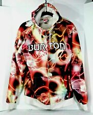 BURTON Snowboard Hooded Sweatshirt Jacket Chuck Anderson NoPattern Light Camo M