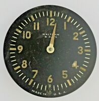 WWII Waltham 8 Day Aircraft Clock Partial Movement with Lume Dial (AI2)