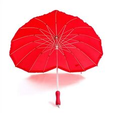 Umbrella Romantic Red Heart Shaped Umbrella Women Wedding Party Wonderful Gift