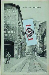 Cartolina Chivasso Via Torino f. piccolo non viaggiata