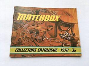 1972 MATCHBOX SUPERFAST COLLECTORS CATALOGUE