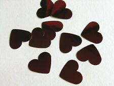 Red Confetti Wedding Heart Table Bride & Groom pack 100