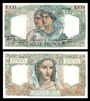 FRANCE 1946 1000   1,000  FRANCS * Minerve & Hercule * VF + / XF Bank Note
