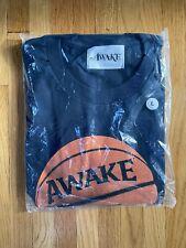 Nwt Awake Ny Navy Basketball Logo Print Crewneck T-Shirt Ss18 M Authentic