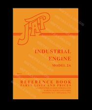 JAP 2A Industrial Engine Instruction, Reference & Parts Manual - Spiral Bound A4