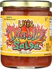 Little Diablo Salsa Mild 100% natural 16 oz glass jar ( pack of 3)