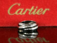 Cartier 18K Solid White Gold 3.5mm Trinity Rolling Band Ring #50 US 5.25