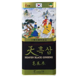 Korean Black Ginseng 15 Roots 6 Years Health Supplements Foods 300g memory blood