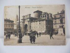 PARMA PIAZZA GARIBALDI ANIMATA CARTOLINA EPOCA PICCOLO FORMATO 1922 VIAGGIATA
