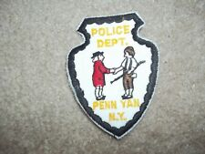 Penn Yan New York Police Patch hat size approx 3 inches