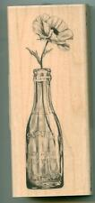Inkadinkado rubber stamp Vintage Bottle Flower wood mounted