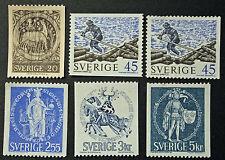 Timbre SUÈDE / Stamp SWEDEN Yvert et Tellier n°650 à 654 et 651a (cyn9)