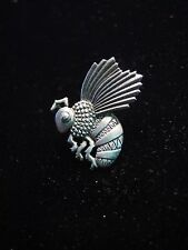 """JJ"" Jonette Jewelry Silver Pewter 'Flying Bee Sideview' Tac Pin"