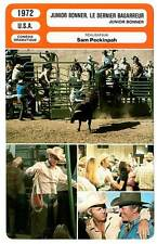 FICHE CINEMA : JUNIOR BONNER LE DERNIER BAGARREUR - McQueen,Preston 1972