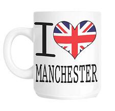 I Love Cuore Manchester Bandiera Union Jack Tazza da regalo