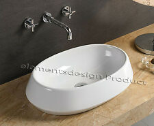 "24"" Bathroom White Ceramic Porcelain Vessel Vanity Sink + *FREE Drain* CV7774"