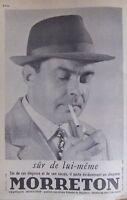PUBLICITÉ 1961 CHAPEAU MORRETON - CHAPELLIER DE CHAZELLE SUR LYON