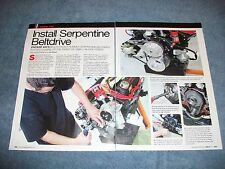 Ford Small Block Vintage Air Serpentine Beltdrive Install How-To Article