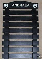 Custom Black Painted Karate Belt Display Rack 8 Slats