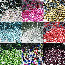 1000 GLASS HOTFIX IRON ON RHINESTONES CRYSTAL GEMS BLING STONES