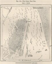 GRANDE ORIENTE ERG. GRAND ERG orientale. ALGERIA TUNISIA. SAHARA dune di sabbia 1885 Mappa