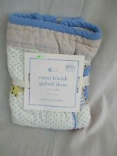 "Pottery Barn Baby Quilted Pillow Sham Circus Friends 12"" x 16"" Nwt"
