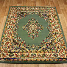 KESHAN TRADITIONAL LOOK GREEN Floral Rug Carpet Mats Small M XL SIZE