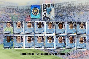 Topps Champions League 2020/21 Manchester City Full Team Set All 18 Stickers