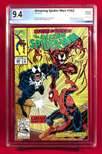 AMAZING SPIDER-MAN #362 PGX 9.4 NM Near Mint SECOND CARNAGE unpressed!!!
