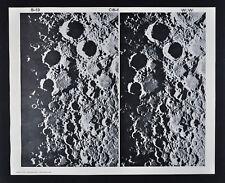 1960 Lunar Moon Map Photo - Mt. Wilson Observatory Plates W119 & W123 - Astonomy