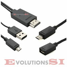 CABLE MHL HDMI A MICRO USB 5PIN Y 11PIN 2M TV MOVIL SAMSUNG GALAXY S1 S2 S3 S4