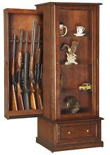American Furniture Classics 611 10 Gun Curio/Slider Cabinet Combo NEW