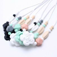 Flower Silicone Beads Teether Chewable Toy Jewelry Baby Teething Women Necklace