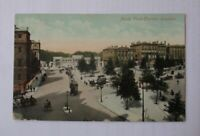 ANTIQUE 1908 COLOUR PRINTED/TINTED POSTCARD HYDE PARK CORNER LONDON HALF PENNY S
