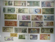 Junk Drawer Assortment of 25 Various Banknotes Paper Money Lots World Currency