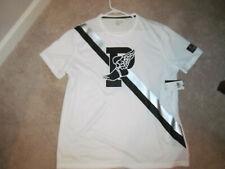 New Polo Ralph Lauren P Wing White Ss Sport Soccer Cycling Jersey Shirt-L Mens