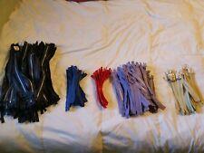 "Zipper Lot 300+ Robin Brand 14"" 7"" Navy Blue Purple Red Bone Colors Massive Lot"