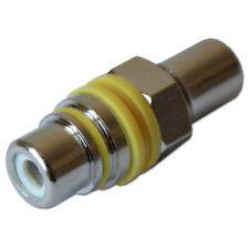 RCA Phono Through Socket Bulkhead Panel Coupler Connector - Yellow