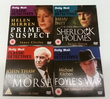 4 x Daily Mail Classic Detectives, Promo DVD'S, Free UK Postage
