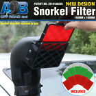 BLACK Universal Snorkel Pre Filter Cleaner 3inch 150mm x 100mm with 10 x filters